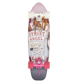 Dusters Dusters Bird Street Angel Cruiser Skateboard White/Pink 27.0