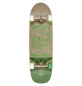 Dusters Dusters Vibes Cruiser Skateboard Hemp/Green 33.0