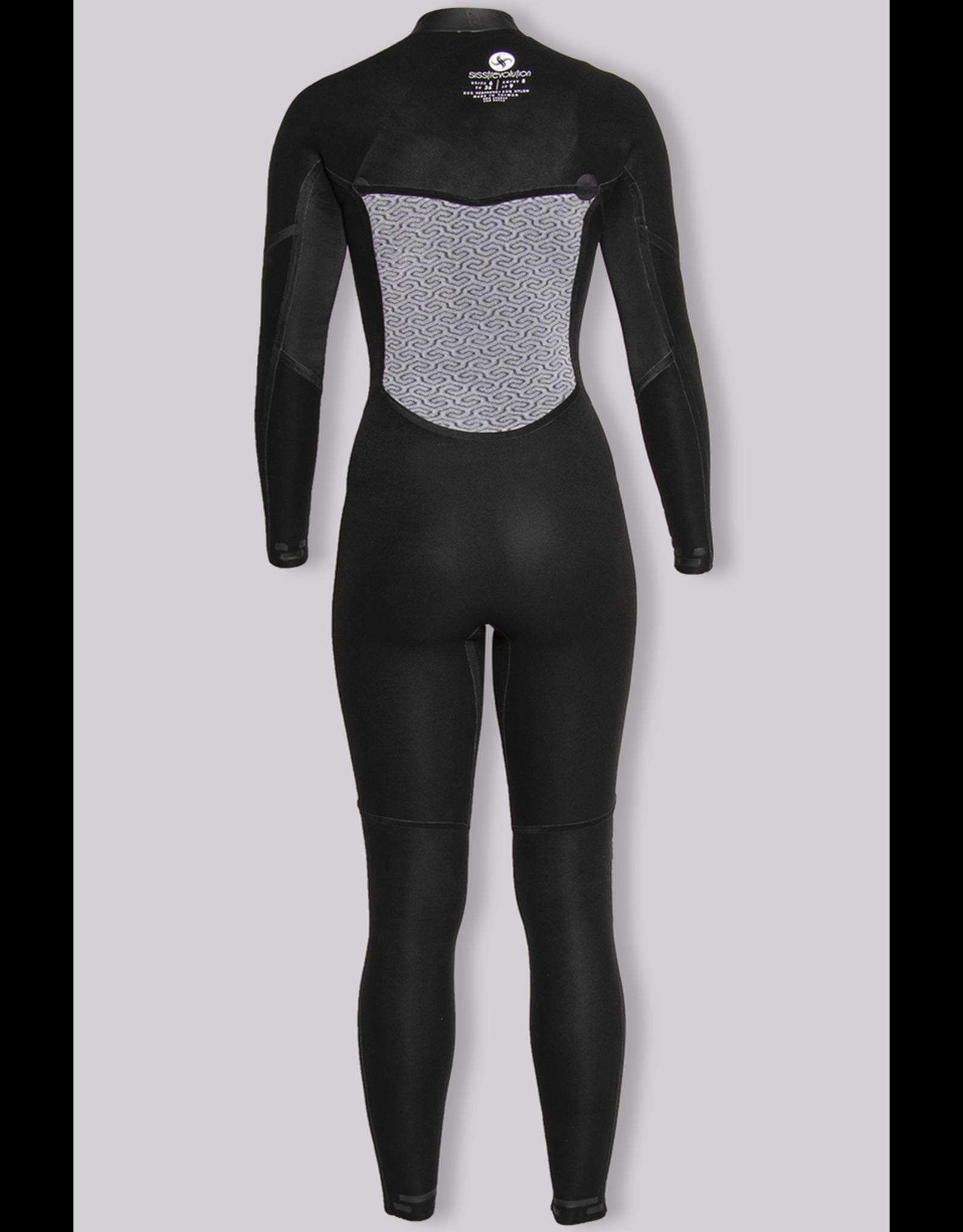 SISSTR Sisstr 7 Seas 3/2 chest zip women's wetsuit