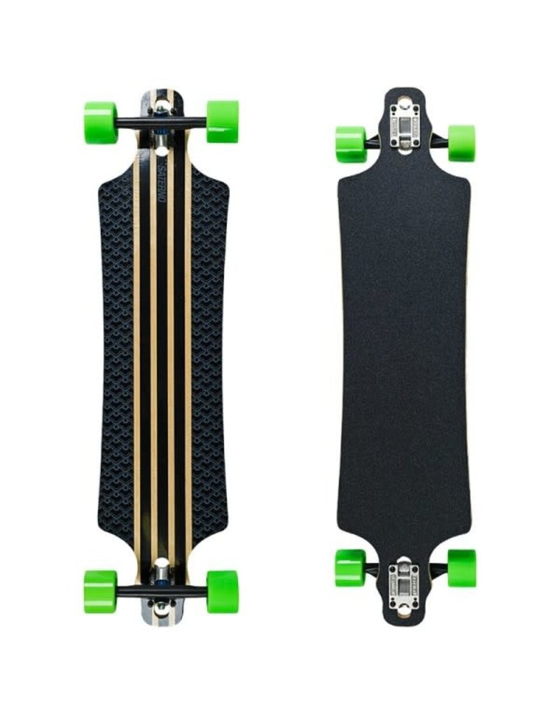 Saterno Saterno Clouded Pattern Drop Through Longboard 39.5