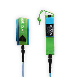 Ariinui ARIINUI SUP Coiled Knee Leash 9.0 Blue Green