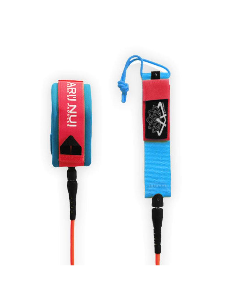 Ariinui ARIINUI SUP coiled knee Leash 9.0 Red Blue