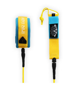 Ariinui ARIINUI SUP coiled knee Leash 9.0 Yellow Blue