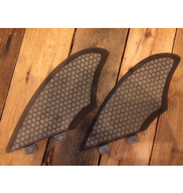 Madness FCS Keel Fin Set Clear Black