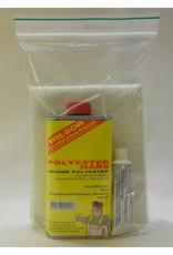 Wilsor Kunstharsen Wilsor Polyester reparatieset 250 ml. met glasmat 0,25 m2
