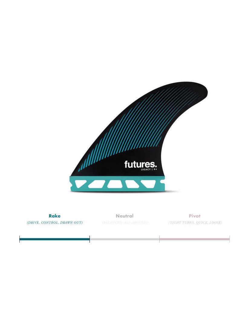 Futures Futures Thruster Fin Set R4 Honeycomb Legacy Rake