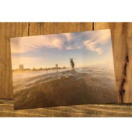 Ansichtkaart Zandvoort Longboard Surfer