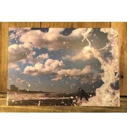 Ansichtkaart Zandvoort Wolken Surfer