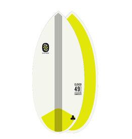 Skim One Skimboard SkimOne EPS Epoxy Bamboo CLOVER 49 Yellow