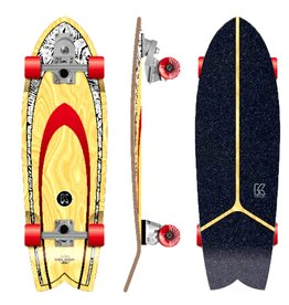 Kruuze KRUUZE Surf Skateboard Solana 32 Blackleaf