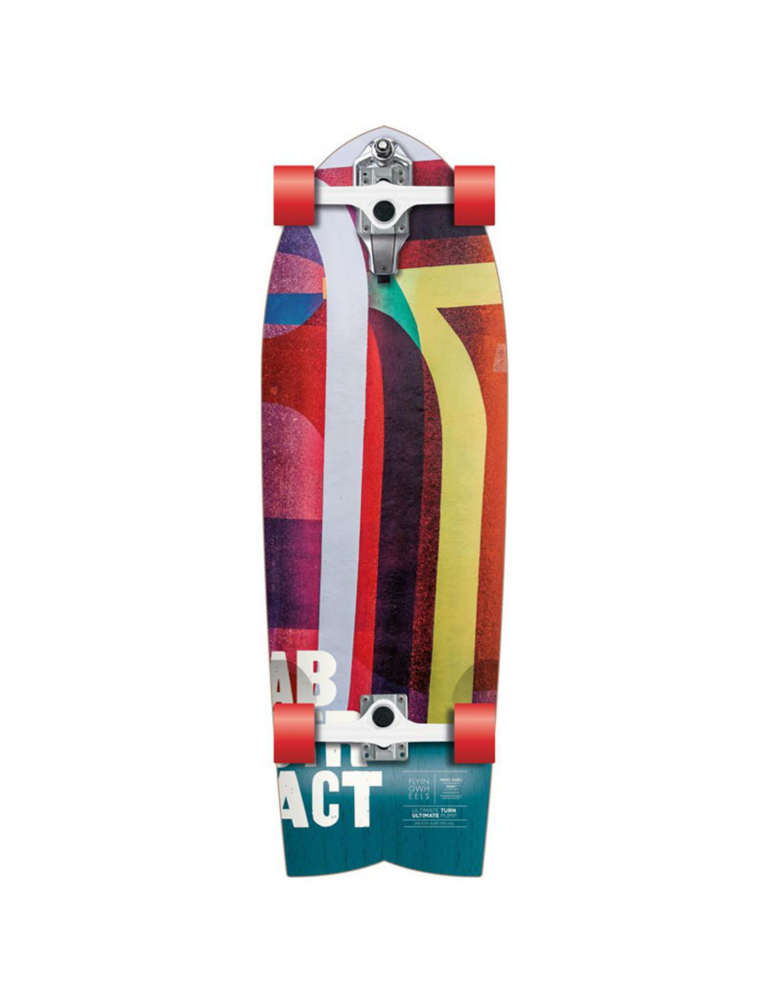 Flying Wheels Flying Wheels Carver Skateboard 32 Abstract Lombard Surf
