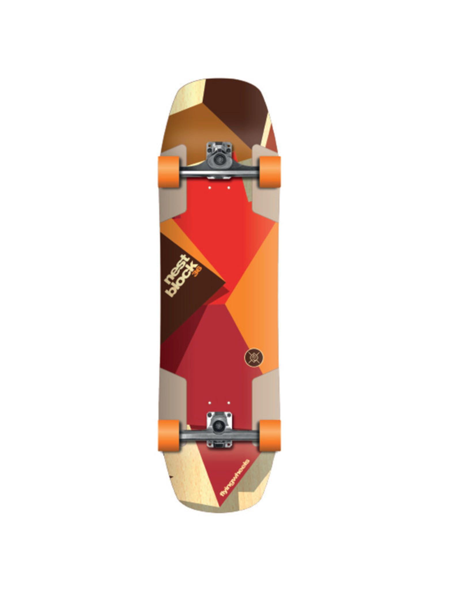 Flying Wheels Flying Wheels Skateboard 36 Nestblock STR Longboard Skateboard