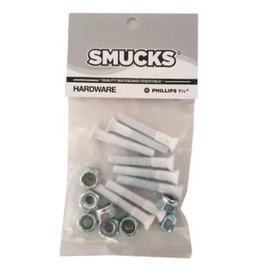 Smucks Smucks Phillips Hardware White 1 1/4 Inch