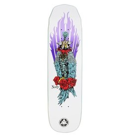 Welcome Welcome  8.125 Peregrine Nora Vasconcellos Pro Model On Wicked Princess Skateboard Deck White
