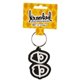 Krooked Krooked Eyes Keychain Black/White