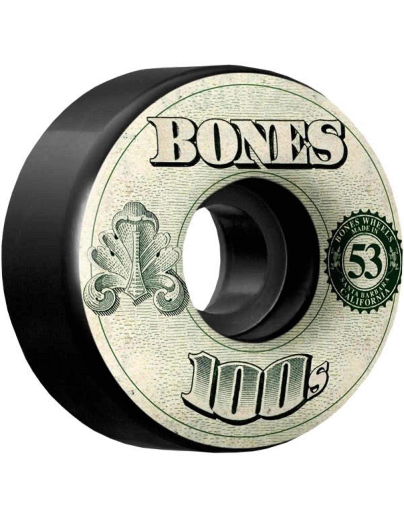 Bones Bones 100's Wheel Black 100A 53mm