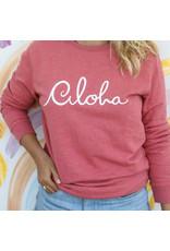 At Aloha Aloha Sweater Pink Melee