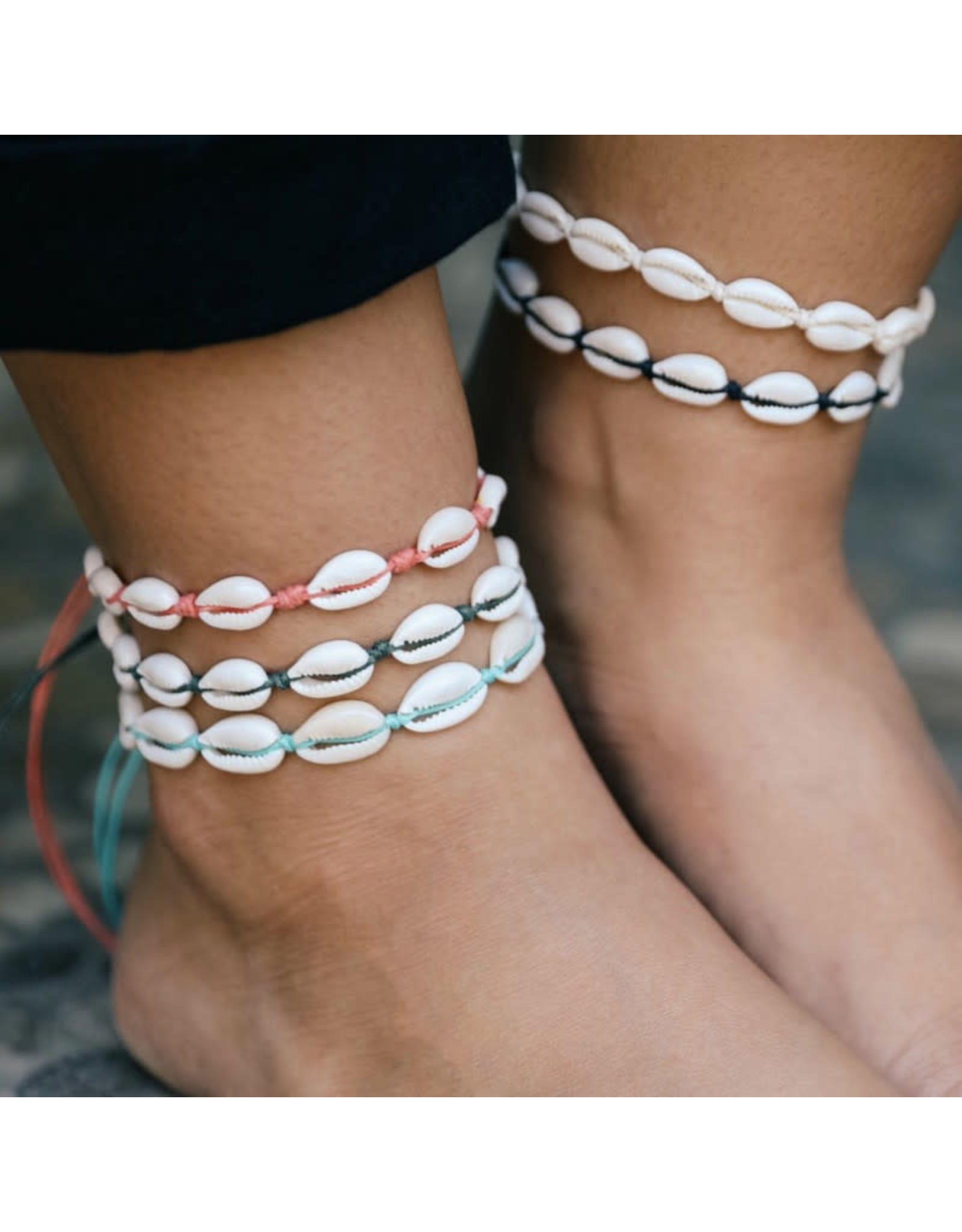 At Aloha At Aloha Shells Anklet Choose your colour