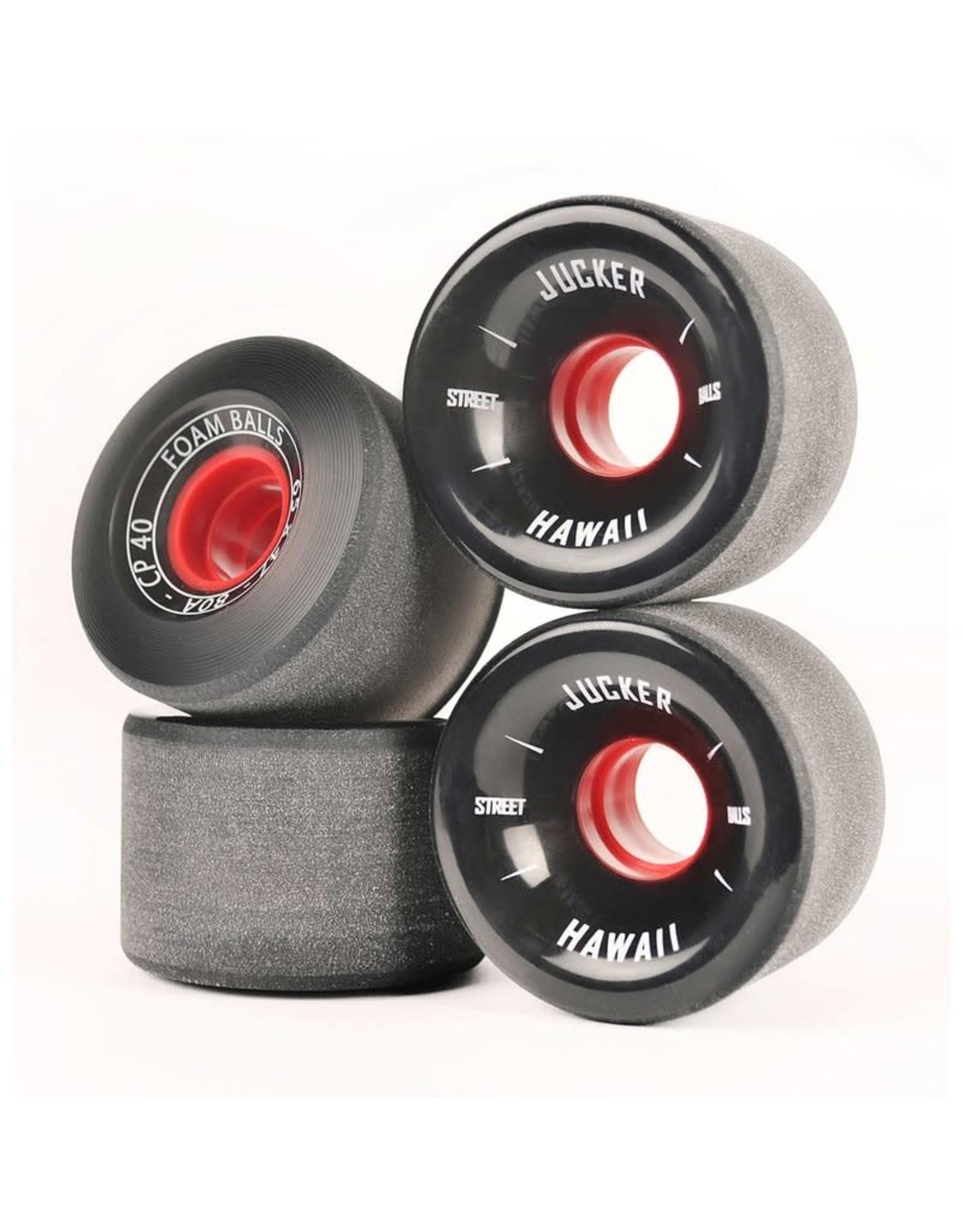 Jucker Hawaii Jucker Hawaii 65mm Longboard Skate Wheels FOAM BALLS 65mm 80A CP40 (4er)