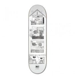 MOB MOB Skateboards 8.5 Building People Deck white x black