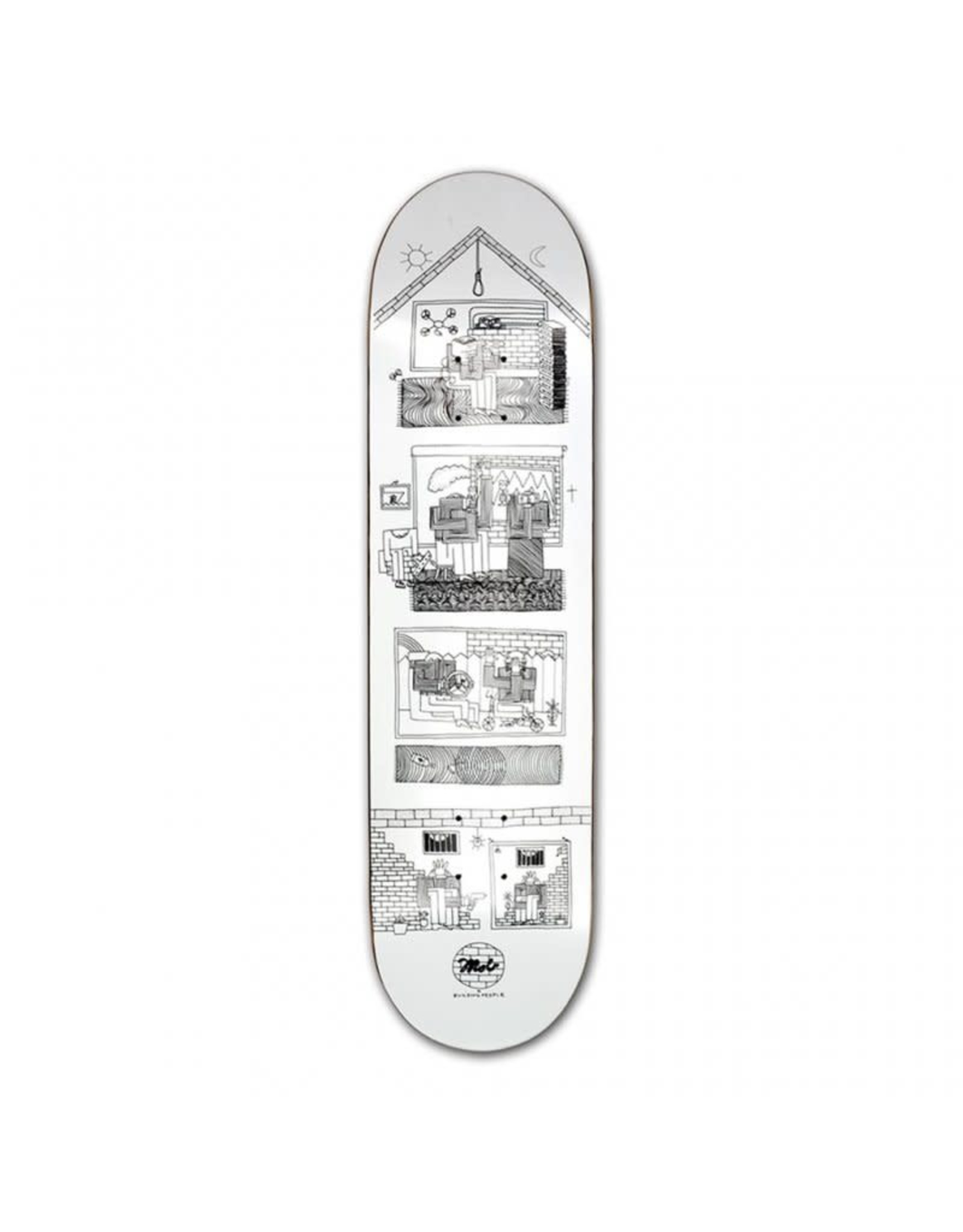 MOB MOB 8.5 Skateboards Building People Deck white x black