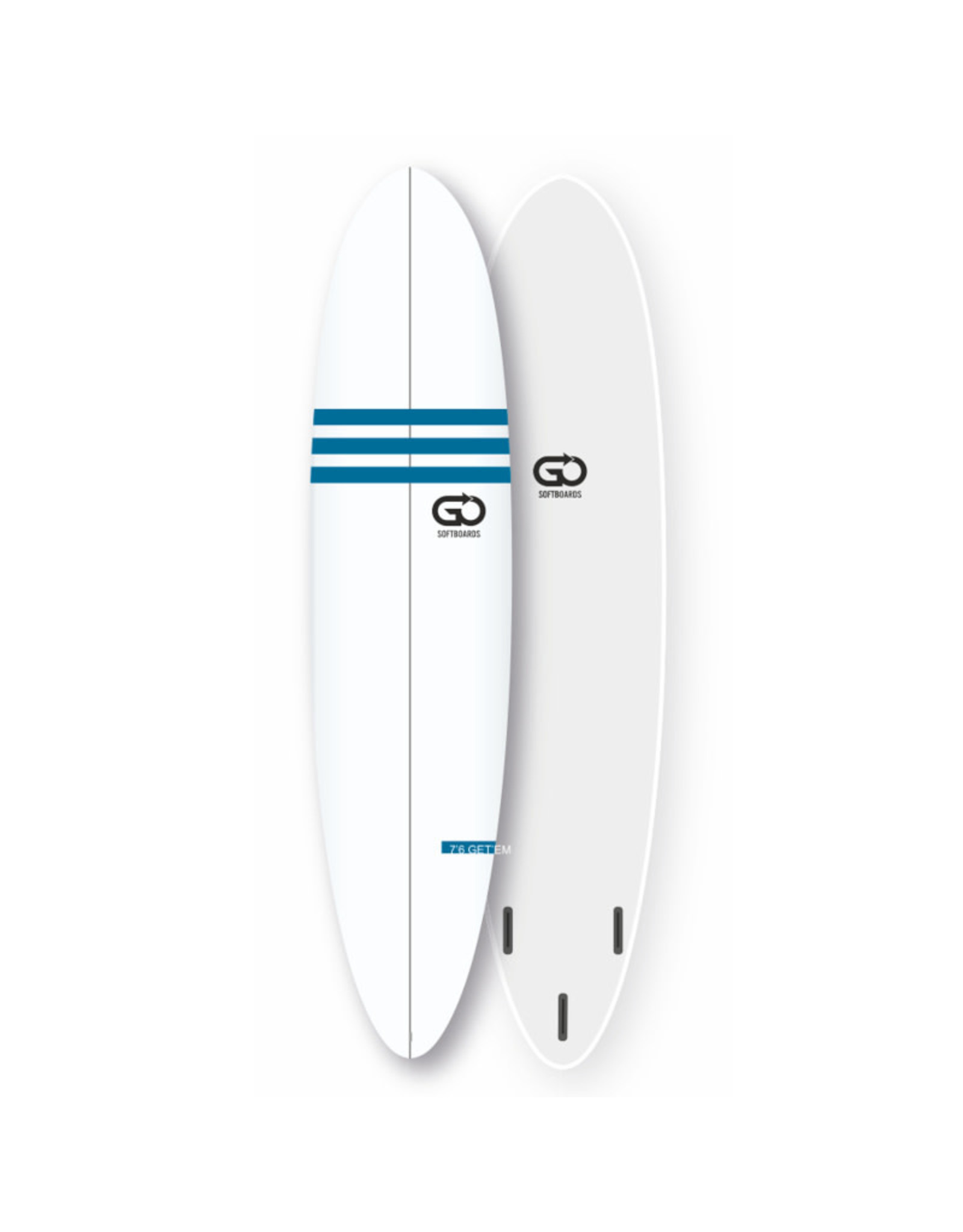 GO GO 7.6 Softboard Soft Top Surfboard Faster