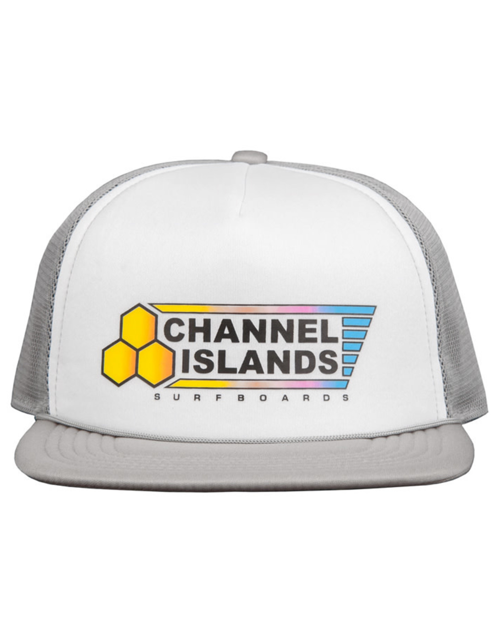 Channel Island Cnannel Island Fade Flag Trucker Cap Grey