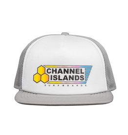 Channel Island Cnannel Island Fade Flag Trucker Cap Grey