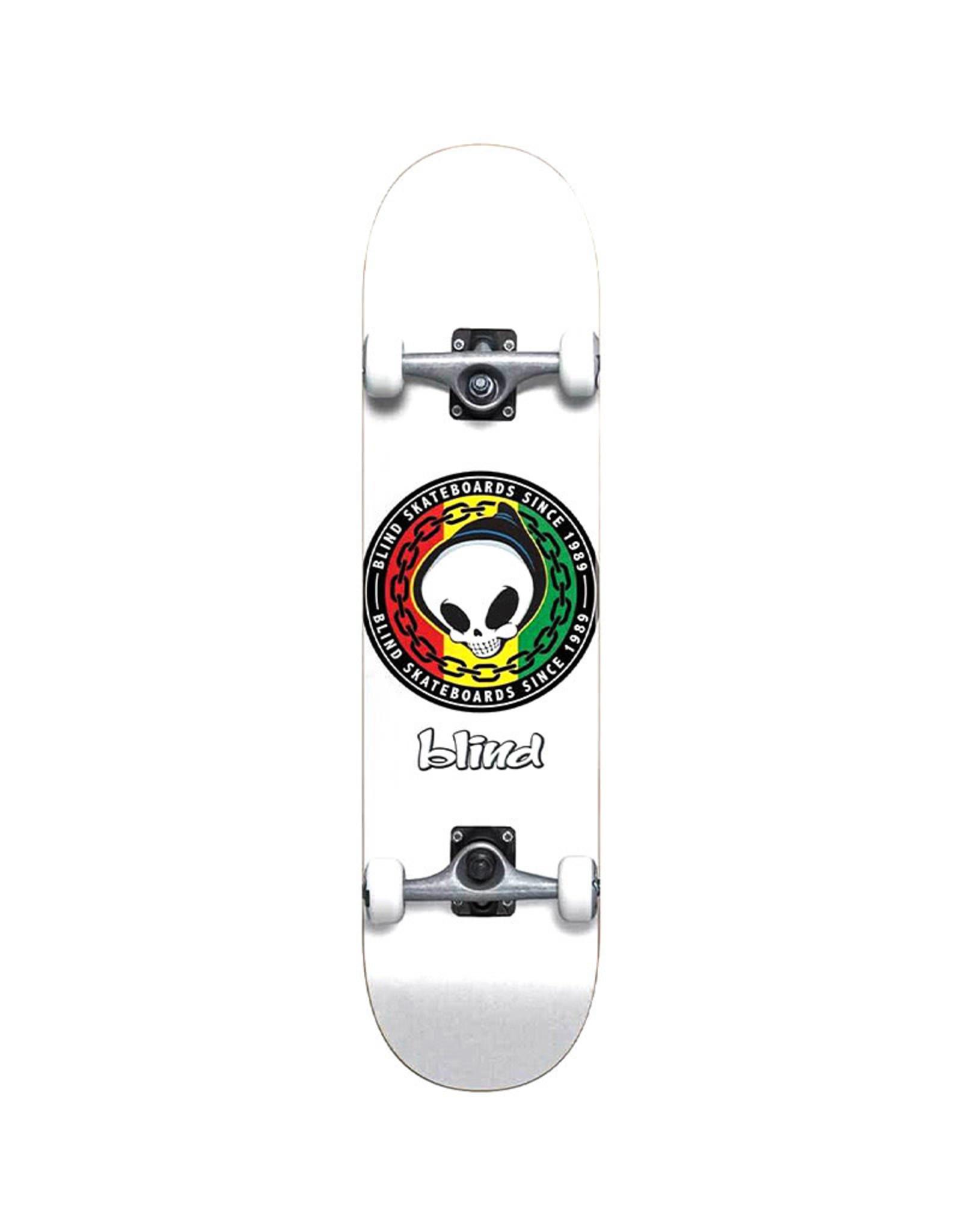 Blind Blind 8.125 Rasta Reaper First Push Complete Skateboard White