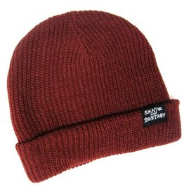 Trasher Trasher Beanie Maroon Skate And Detroy