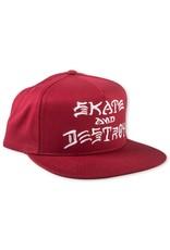 Trasher Trasher Skate And Destroy Cap Red