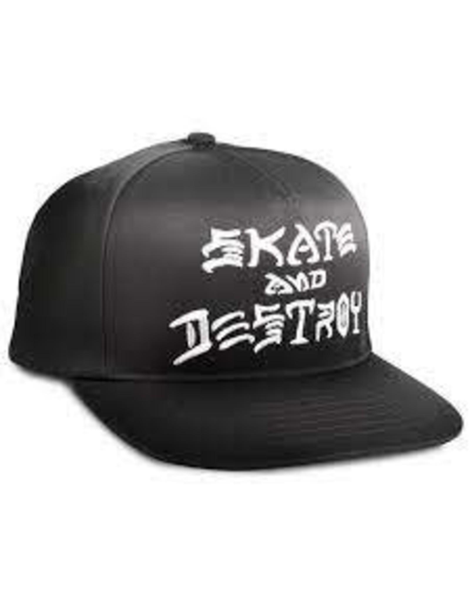 Trasher Trasher Skate And Destroy Cap Black