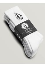 Volcom Volcome Full Stone White Sock 3P