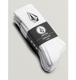 Volcom Volcome Full Stone White Sock 3P