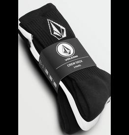 Volcom Volcome Full Stone Black/White Sock 3P