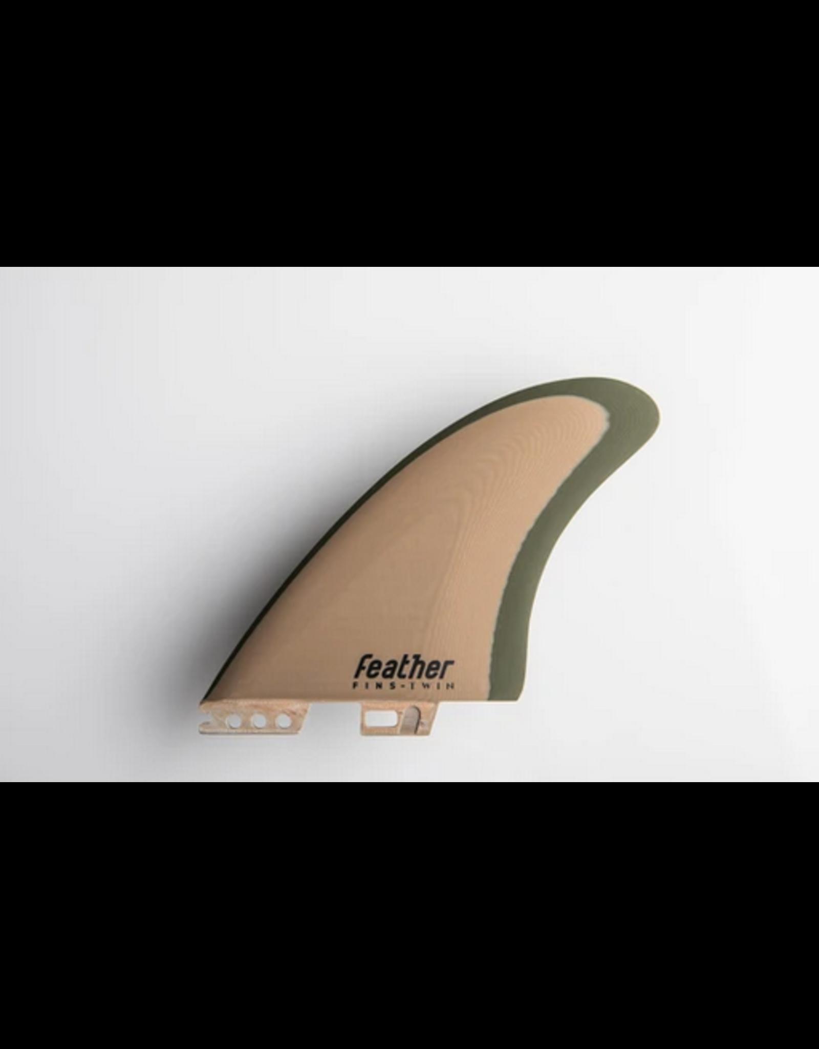 Feather Fins Feather Fins Modern Keel Twin Click Tab FSCII Green Forest