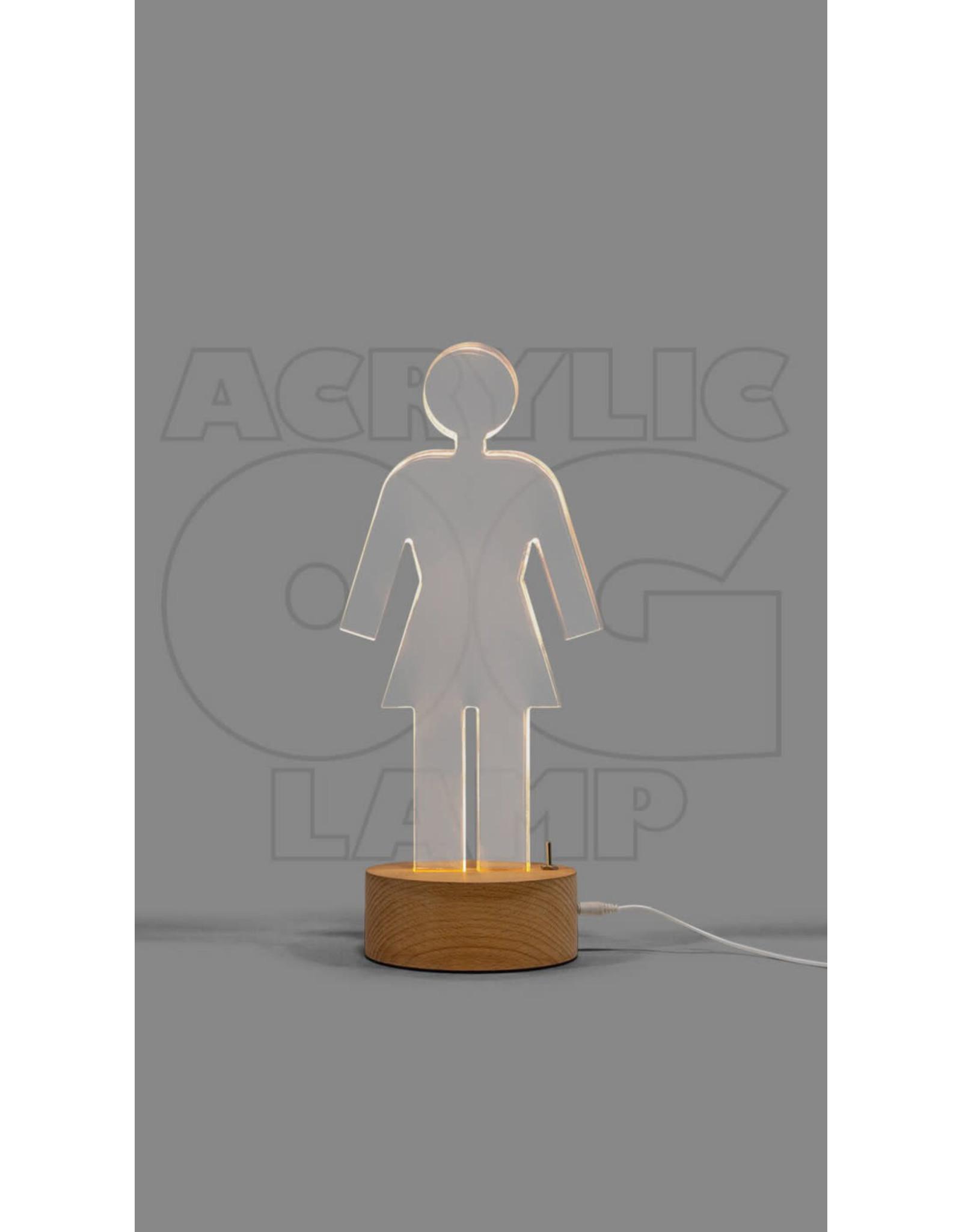 Girl Girl The Acrylic OG Lamp