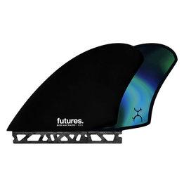Futures Futures Twin Fin Set Machado Keel Honeycomb