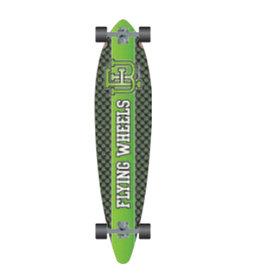 Flying Wheels Flying Wheels Downhill Skateboard 43 Varsity Lime Downhill Gun Series