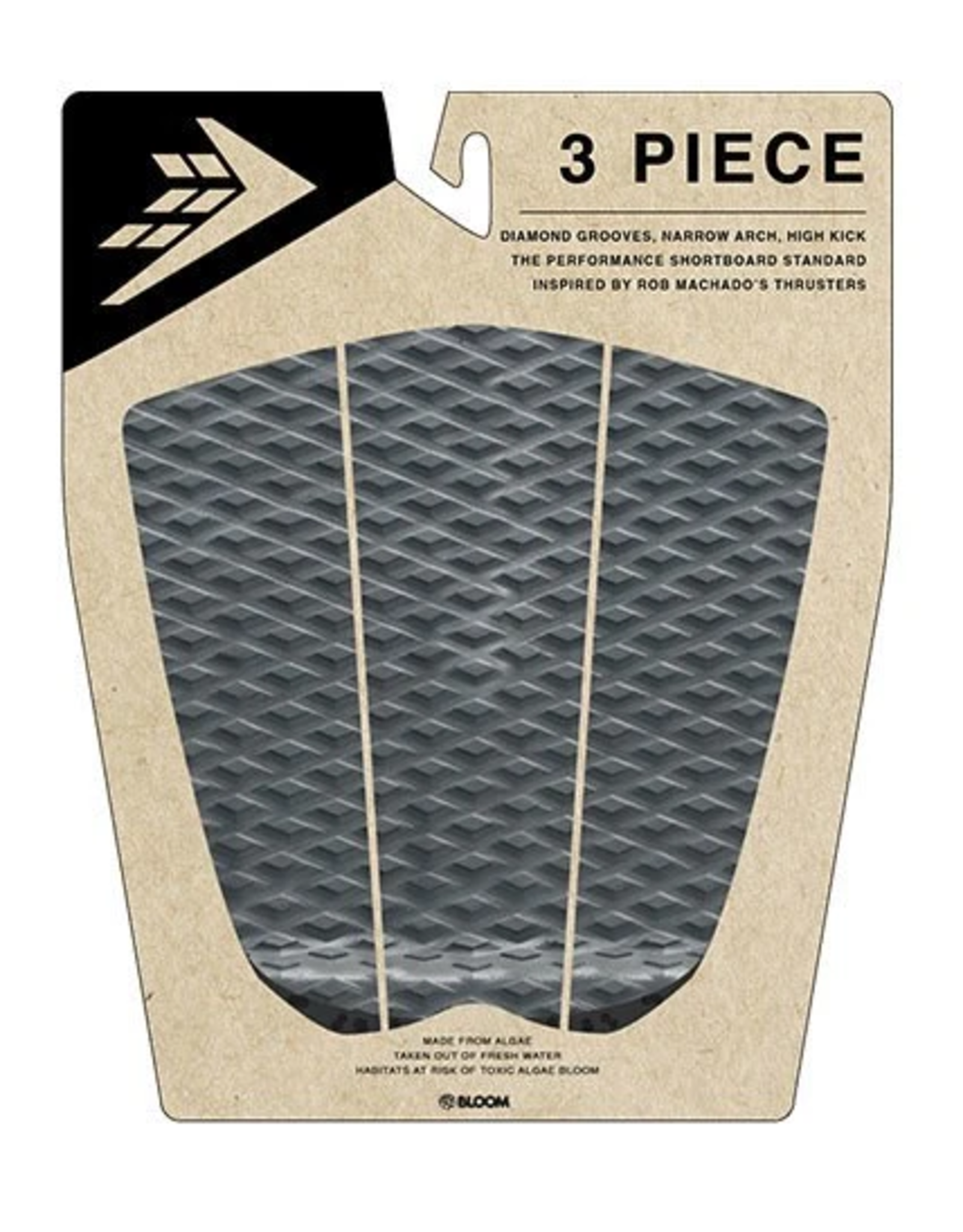 Firewire Firewire 3 Piece Arch Traction Pad Charcoal/Black