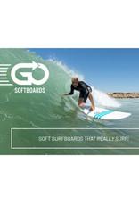 "GO GO 6.8"" Soft Top Surfboard Blue"