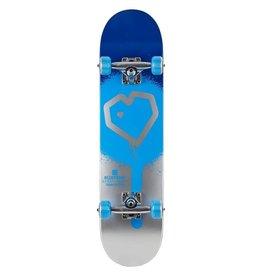 Blue Print Blue Print 8.25 Spray Heart Complete Skateboard Blue/Silver