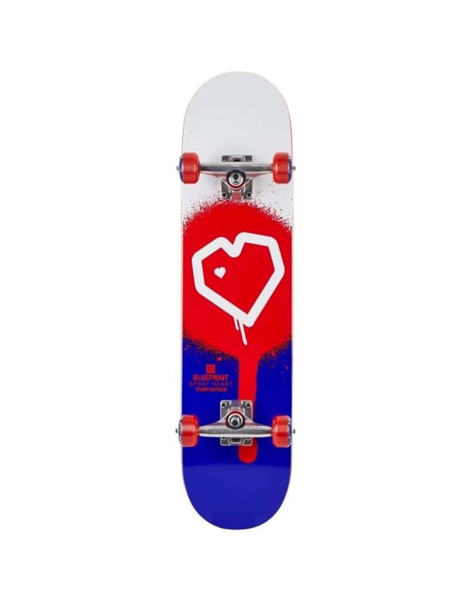 Blue Print Blue Print 8.0 Spray Heart Complete Skateboard Red/Blue 8.0