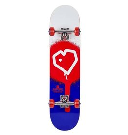 Blue Print Blue Print 8.0 Spray Heart Complete Skateboard Red/Blue 8.0