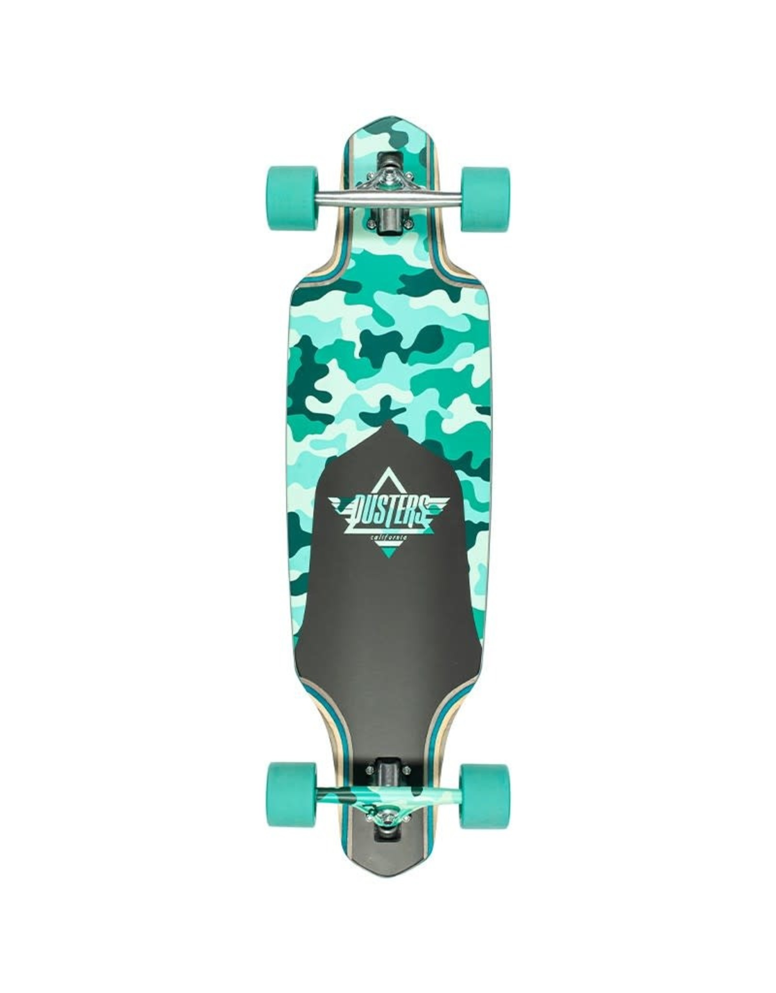 Dusters Dusters 34.0 Channel Dragonfly Complete Longboard Camo/Teal