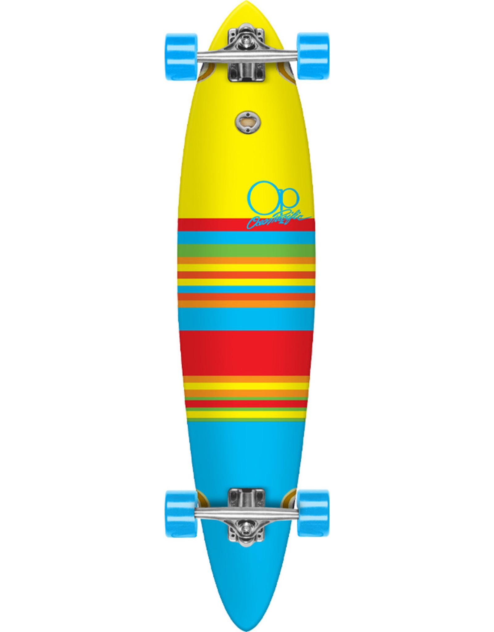 """Ocean Pacific Ocean Pacific 40"""" Swell Yellow/Blue Pintail Longboard"""
