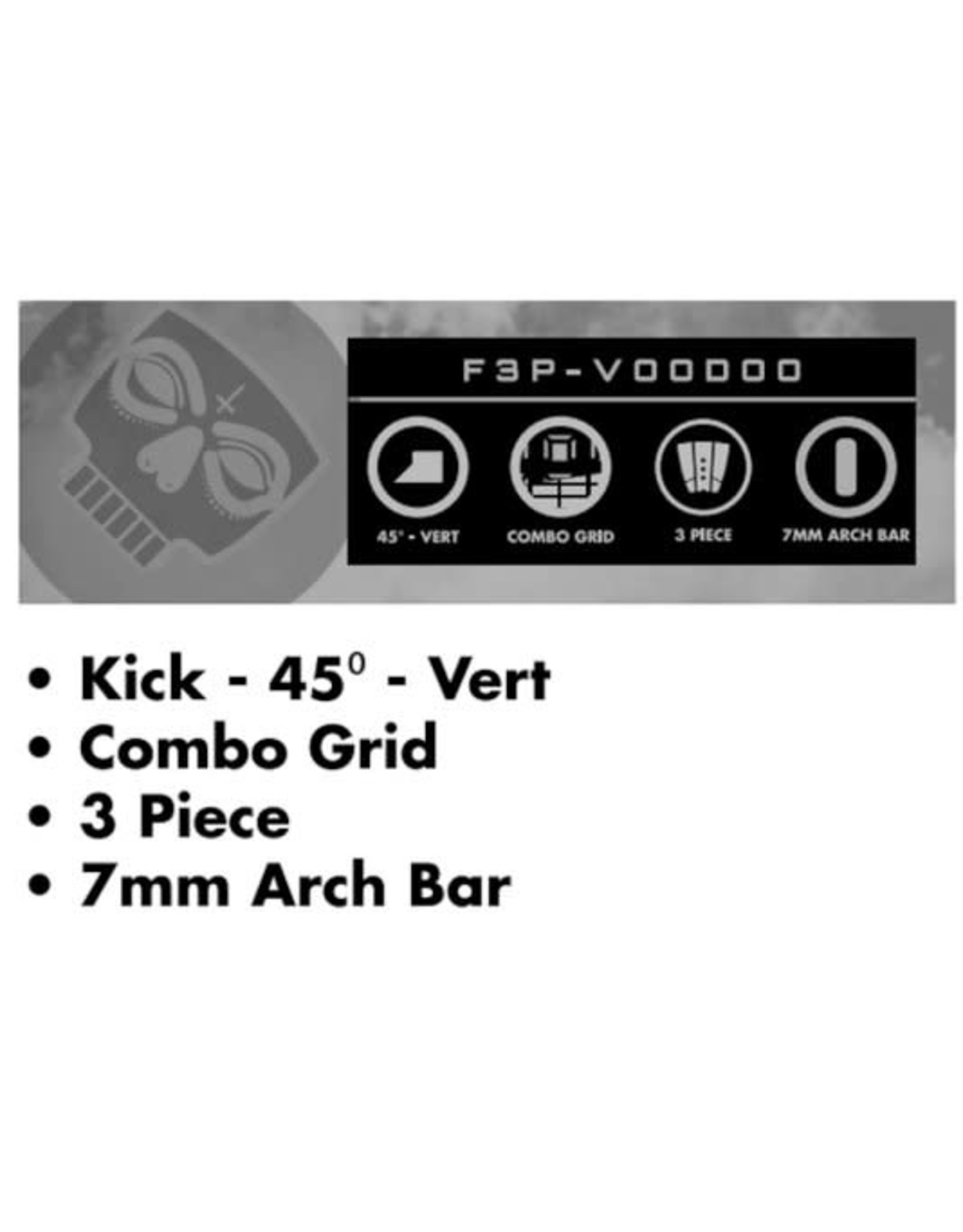 Futures FUTURES Traction Pad Surfboard Footpad 3pc Voodoo