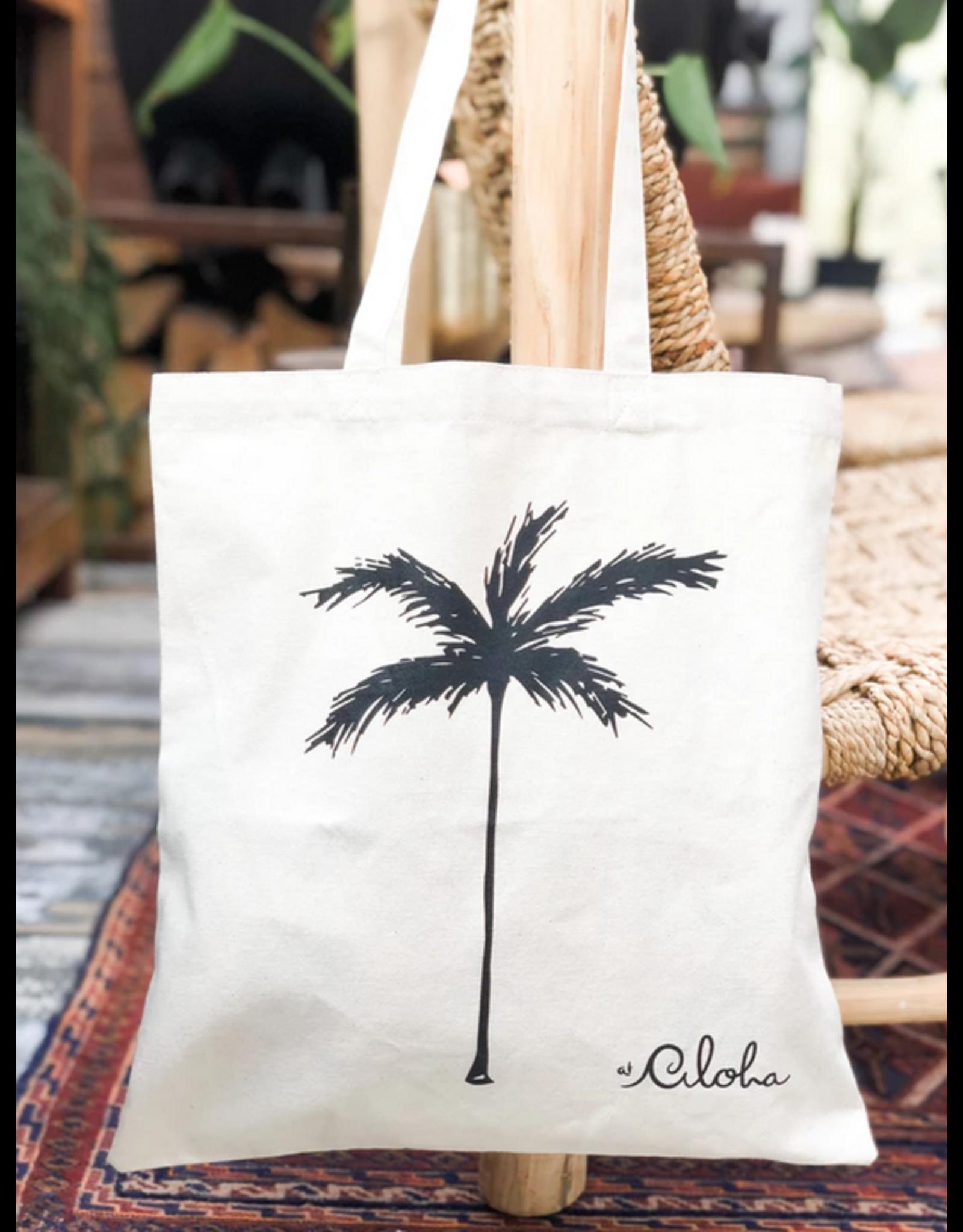 At Aloha At Aloha Palmtree Canvas Bag