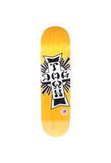 """Dogtown Dogtown 8.25"""" Street Cross Silver Cross Skateboard Deck Yellow"""