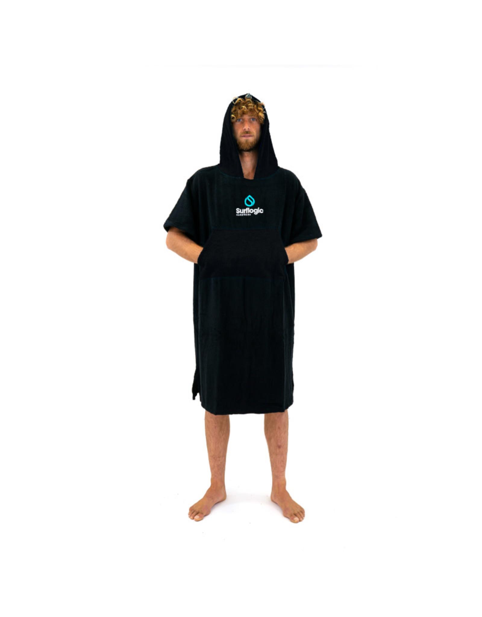 Surflogic Surflogic Poncho Black